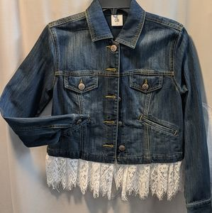 CAbi Dakota Jacket w/ Removable Lace Trim - Small